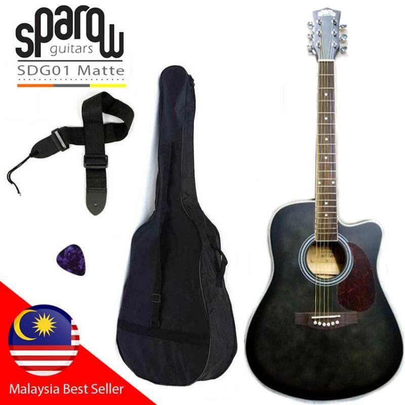 Sparow 41 inch Acoustic Guitar matte Colour (FOC Non-Padded Bag, Pick & Strap) Malaysia