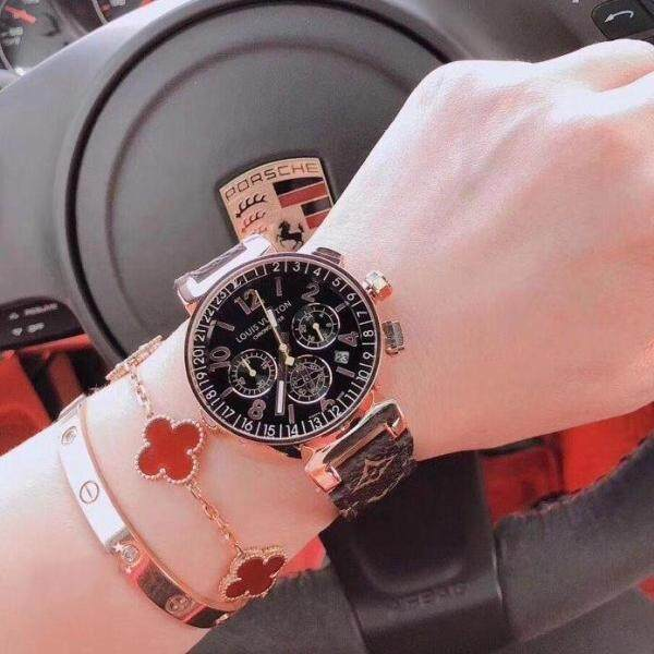 [Fast delivery] new LV2020 watch, classic color trend watch, stylish personality belt female watch Malaysia