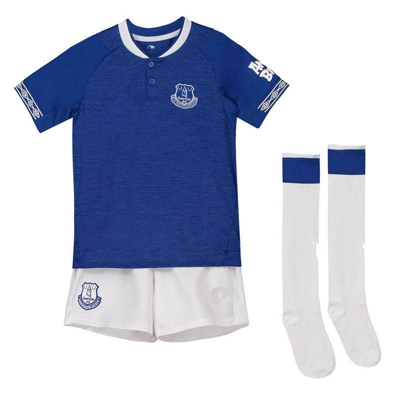 6f8ee0a9a (Free Socks) Children Top Quality Everton Home and Away and 3rd Football  Jersey Kit