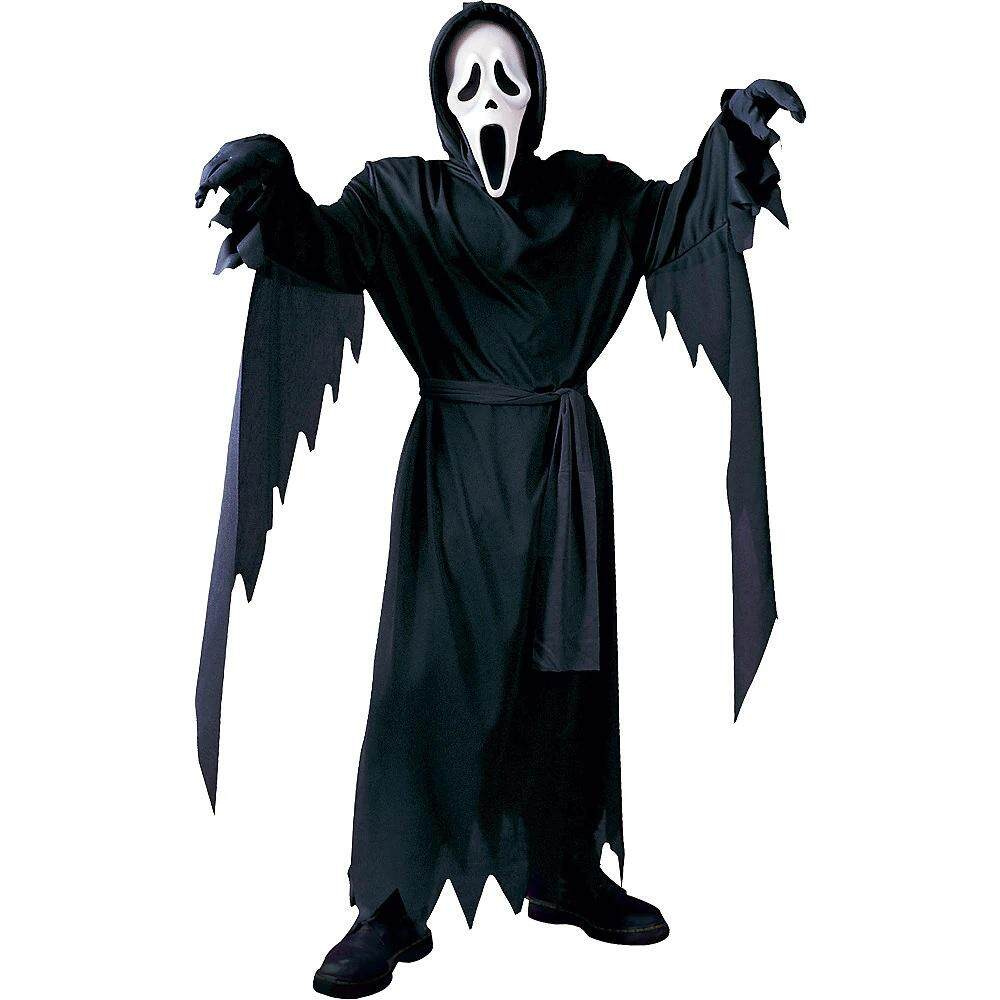 Scream Face Mask and Costume Halloween Scare Scary Cosplay toys for girls
