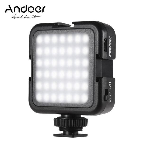 Giá Andoer 42led Ultra BRIGHT LED Video 42 chiếc hạt ánh sáng với đế giày lạnh độ sáng có thể điều chỉnh độ sáng ổn định nhiệt độ màu chụp ảnh Ánh sáng Tương thích với máy ảnh DSLR