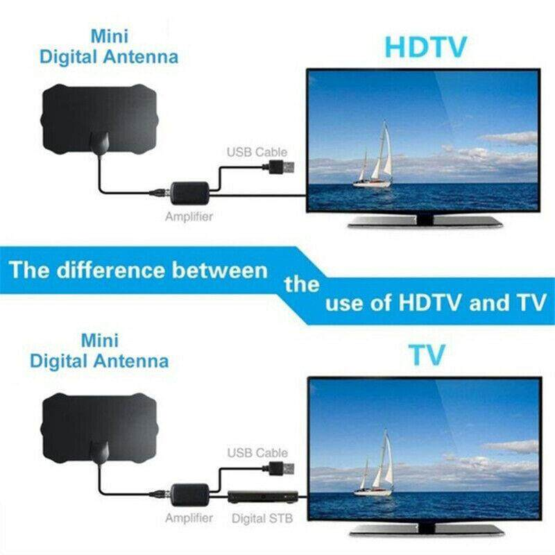 TV Antenna With Amplifier Signal 240 Miles 1080P Digital HDTV Indoor Universal