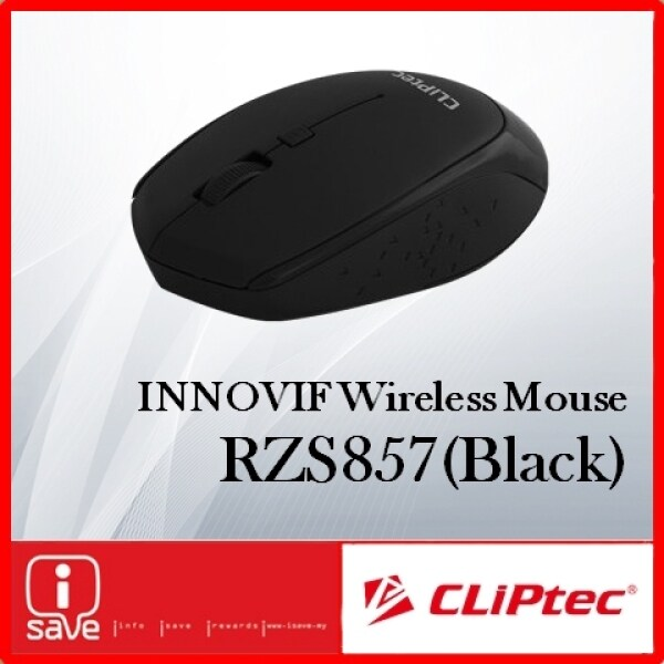 CLiPtec INNOVIF1600Dpi 2.4GHz Wireless Optical Mouse RZS857 [ Black/Grey/Maroon ] Malaysia