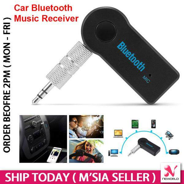Wireless 3 5mm Bluetooth Audio Music Receiver Car Speaker Laptop Android  iPhone