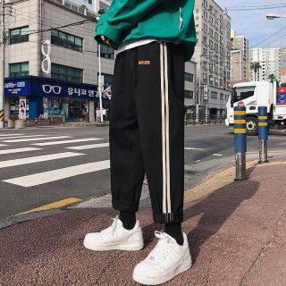 Áo Liền Quần Nổi Tiếng Trên Mạng Ins, Quần Ống Hip Hop Phiên Bản Han Cho Nam, Logo Phổ Biến Thời Trang Đường Phố Chín Điểm Của Quần Chân Bộ Quần Áo thumbnail