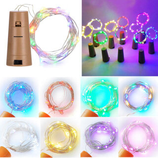 Đèn Nút Chai Rượu Vang LED 8 Màu 1M 2M Đèn Dây Đồng, Đèn Trang Trí Tiệc Lễ Hội Đám Cưới Nút Chặn Rượu thumbnail