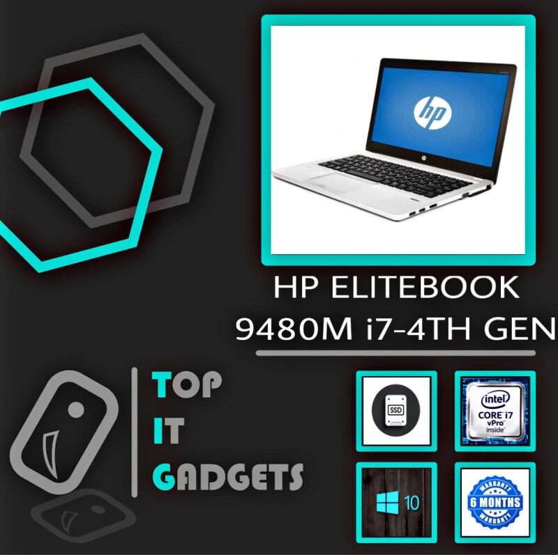 HP ELITEBOOK FOLIO 9480m ULTRABOOK - 14 - CORE i7-4TH GEN - 8GB DDR3 RAM - 256GB SSD STORAGE - WINDOWS 10 PRO - 6 MONTHS WARRANTY [ #LAPTOP ] Malaysia