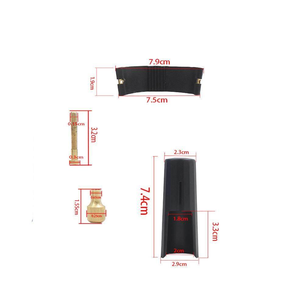 Alto Tenor Pipa Saksofon Sopran PU Kulit Clamp Klip + Cap Aksesori Saksofon