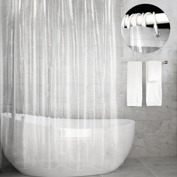 YOUZA96926 Đồ Dùng Nhà Tắm Bằng Nhựa PEVA Chống Nấm Mốc Chống Thấm Trong Suốt Trang Trí Nhà Cửa, Rèm Phòng Tắm, Nước Chống Bắn