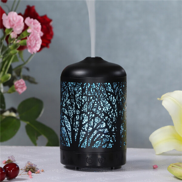 Twig Pattern Aroma Diffuser for House Ultrasonic Essential Oil Fragrances Aromatherapy Humidifier 7 Color Changing 100ml EU Plug Singapore