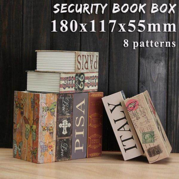 【Free Shipping + Flash Deal 】Hollow Storage Safe Box Dictionary Book Money Hidden Secret Security Lock + Keys(8 Colors for Choice)
