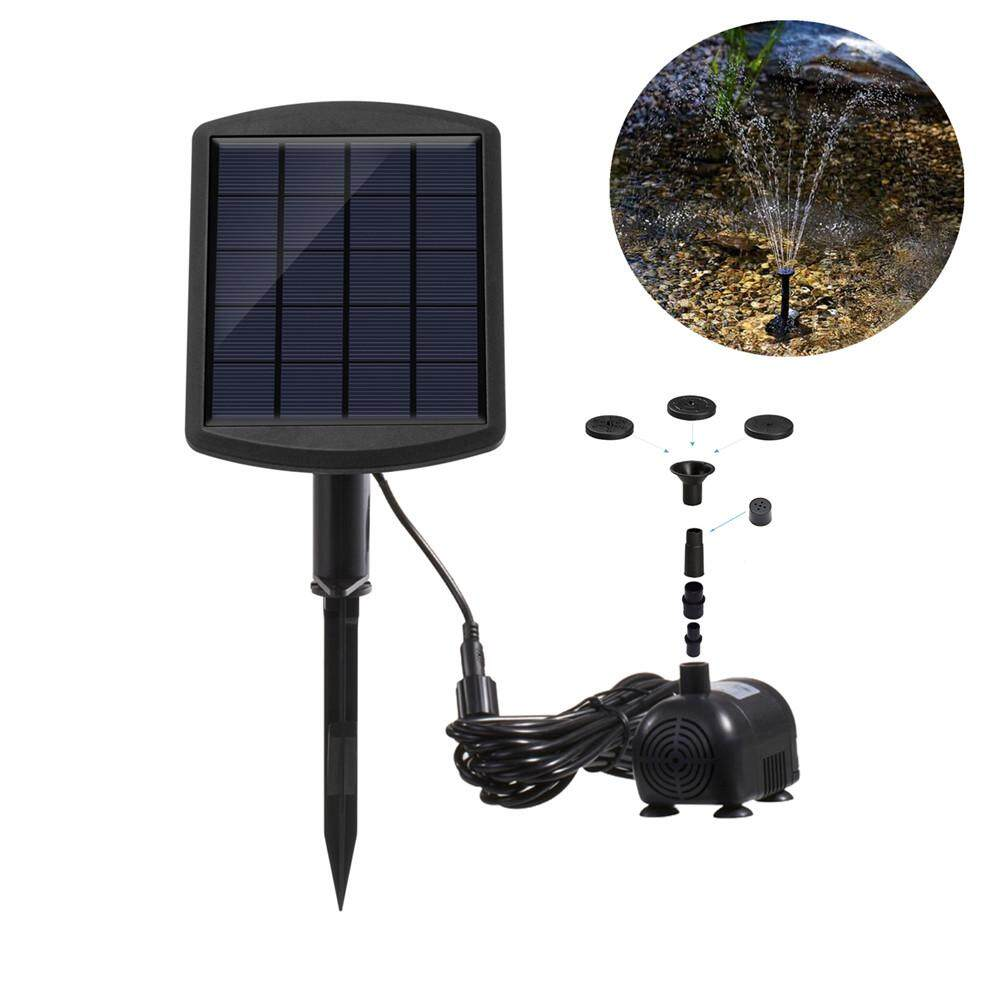 RD Solar Panel Powered Water Fountain Pump Outdoor Decoration