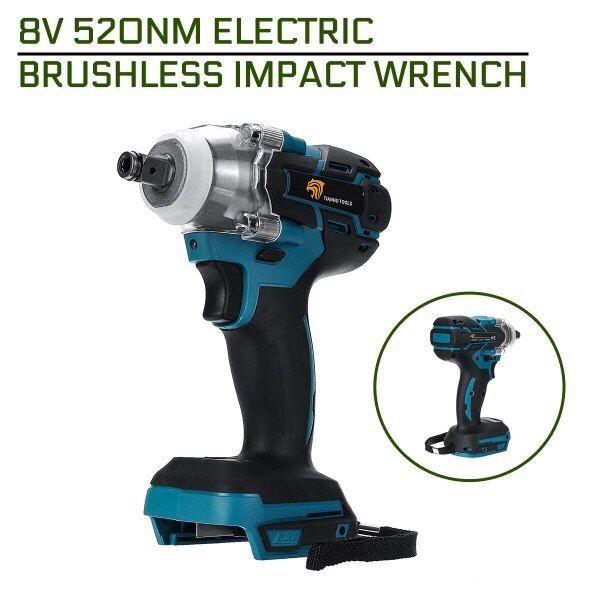 520Nm 18V Electric Brushless Impact Wrench Rechargeable Cordless 1/2 Socket Wrench Power Tool For Makita Battery DTW285Z