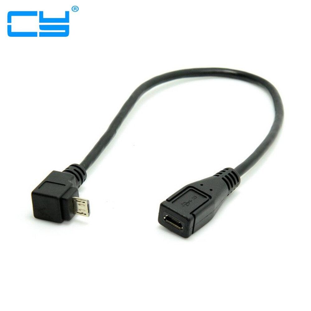 Xác Thực Hot Bán, Xuống Hướng Cáp Nối Dài 90 Độ Micro USB 2.0 5 Chân Đực Sang Cái Cho Điện Thoại Di Động Máy Tính Bảng
