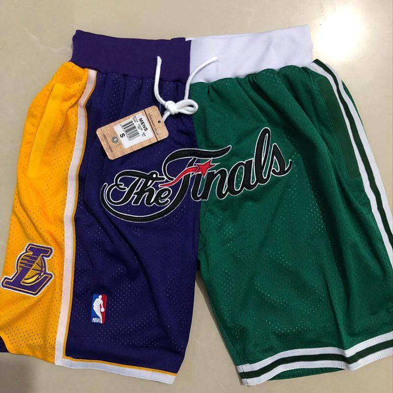 Boston celtics & Los Angeles lakers_nba finals 2008 กางเกงขาสั้นบุรุษ swingman embroidery JERSEY SHORT