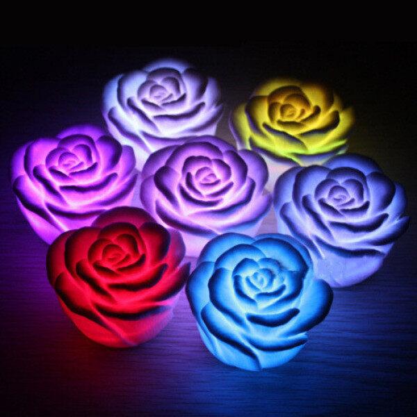 Đèn Led Hoa Hồng Đèn Đỏ/Xanh Dương/Hồng Đèn Ngủ Mới Lạ Trang Trí Nội Thất Phòng Cạnh Giường Luminaria Đèn Ngủ
