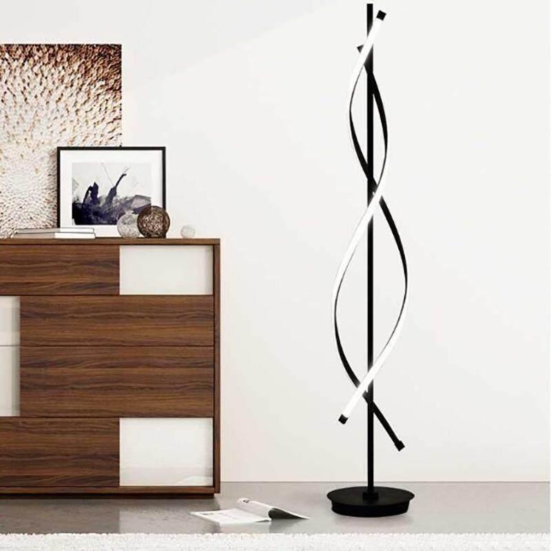 Nordic Modern Creative Minimalist Floor Lamp with warm light black color