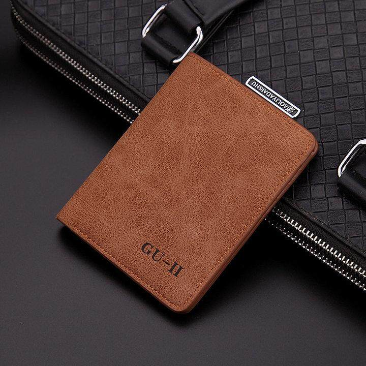 Newchance Men Wallet Men Short Version Folding Vertical Youth Small Student Fashion Simple Style Fashion Personal