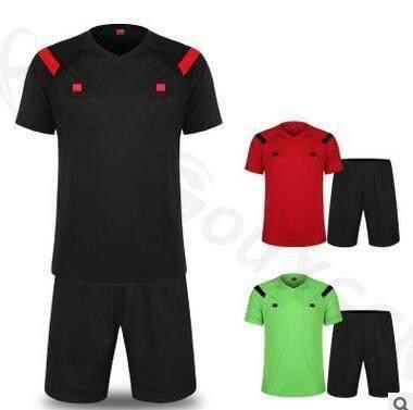 PLATIM MF Soccer Referee Jersey Judge Uniform Professional Soccer Referee Clothing Football Referee Jersey Set Spor Training Cloth Set(Size:XXXL)