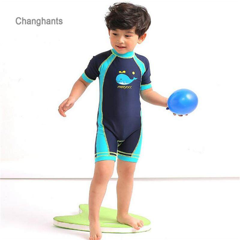 950ec584c4 2019 New Models Kid 1-12 years Boy Rash Guard Surfing suits Children one  piece
