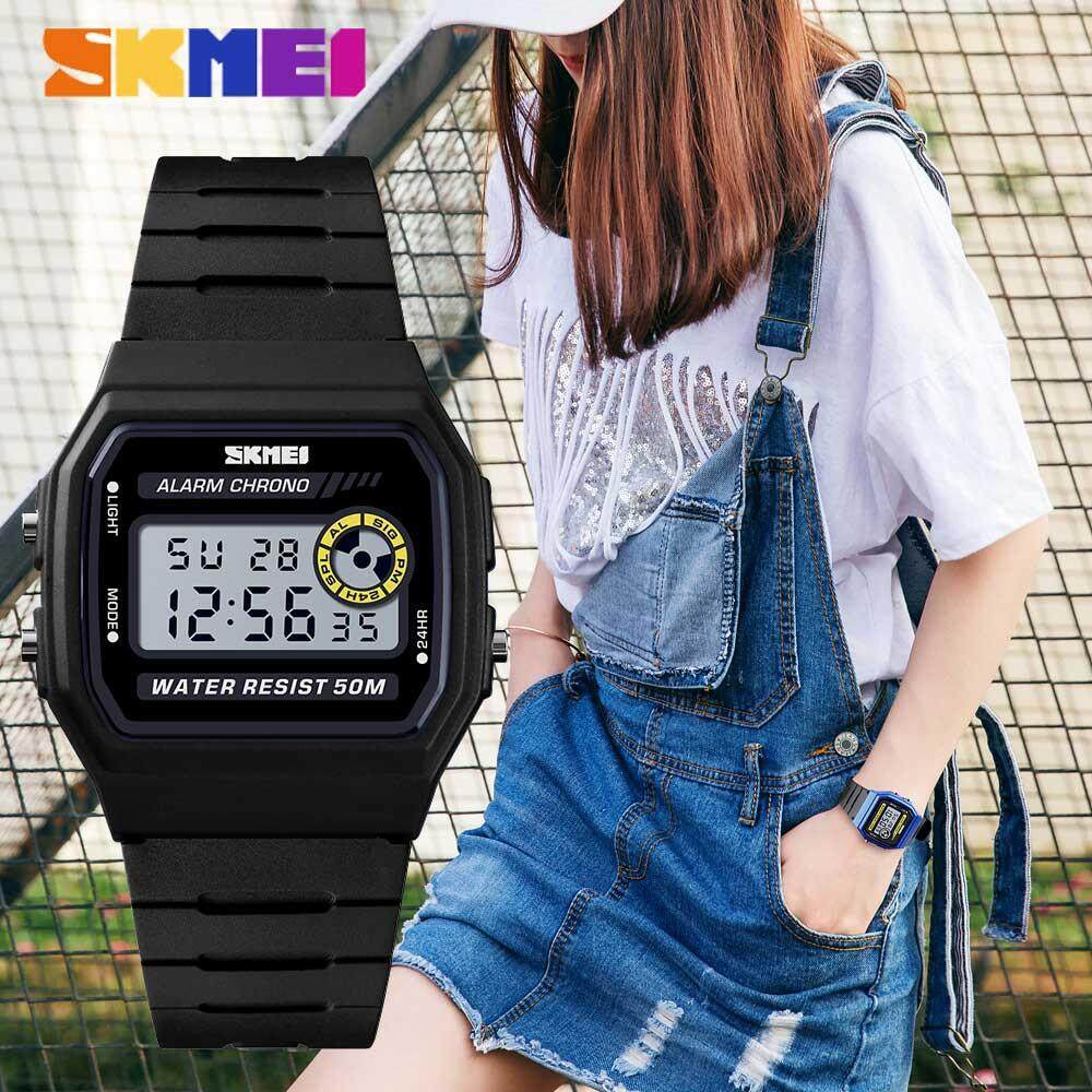 SKMEI New Women Military Sports Watches LED Digital Watch Fashion Outdoor Waterproof Wristwatches Jam tangan wanita