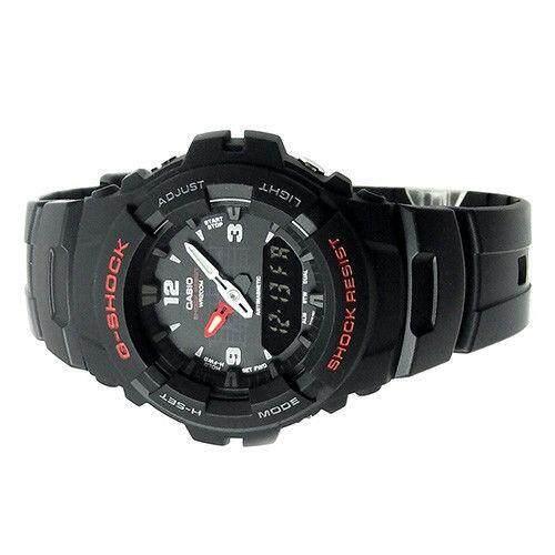 ยี่ห้อไหนดี  ระนอง 【 STOCK】Original _ Casio_G-Shock G100 Duo W/เวลา 200M กันน้ำกันกระแทกและกันน้ำโลกนาฬิกากีฬาไฟแอลอีดีอัตโนมัติ Wist นาฬิกากีฬาสำหรับ MenBlack G-100