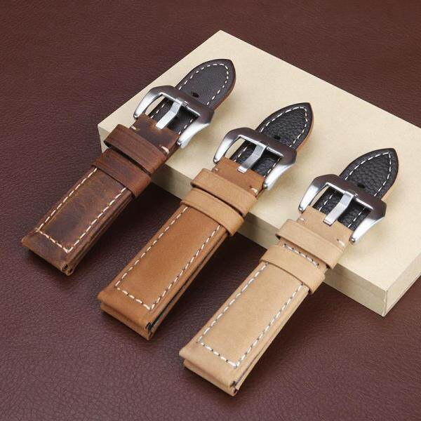 22mm 24mm 26mm Genuine Cowhide Leather Watch Band Brushed Mens Watchband Fashion Watch Strap Malaysia