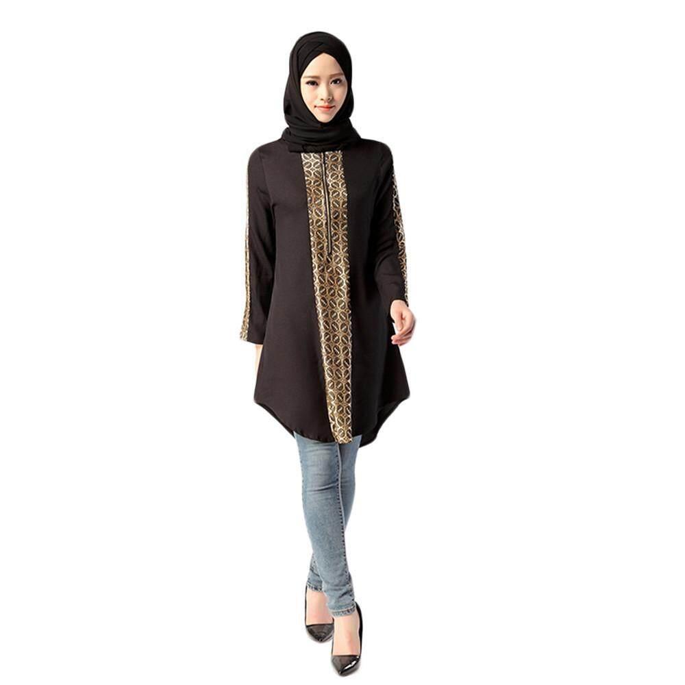 8c590eb7e08c3a Erpstore Muslim Women Islamic Print Plus Size Muslim service Tops Easy  Blouse