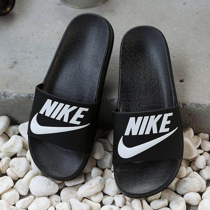newest ab14b 220fd Nikes Summer Europe and America couple slippers Korean version of the big  personality personality men and women sandals and slippers non-slip men's  ...