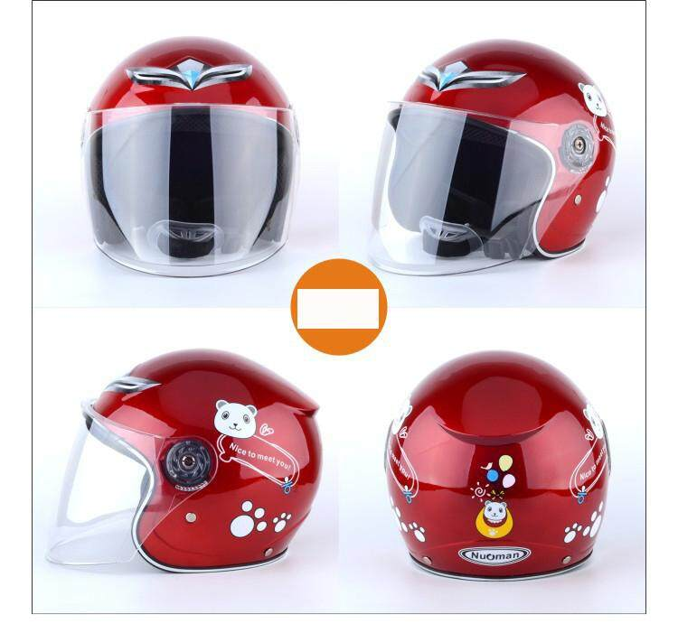 Wangwang Children Boy Girl Advanced Warm Windproof Motorbike Helmet Protective Gear By Wangwang Store.