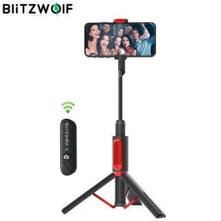 BW-BS10 BlitzWolf Gậy Chụp Ảnh Tự Sướng Bluetooth Di Động Tất Cả Trong Một Kẹp Điện Thoại Ẩn Với Giá Ba Chân Có Thể Thu Vào thumbnail