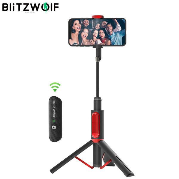 BlitzWolf BW-BS10 Tất Cả Trong Một Xách Tay Gậy Selfie Bluetooth Hidden Kẹp Điện Thoại Với Có Thể Thu Vào Chân Máy