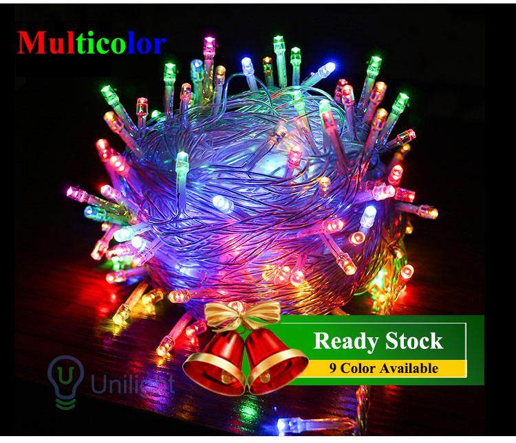 10m 100 pcs LED fairy Light String Light Lamp Wedding Party lampu Home  Festive Decorative strip lighting display
