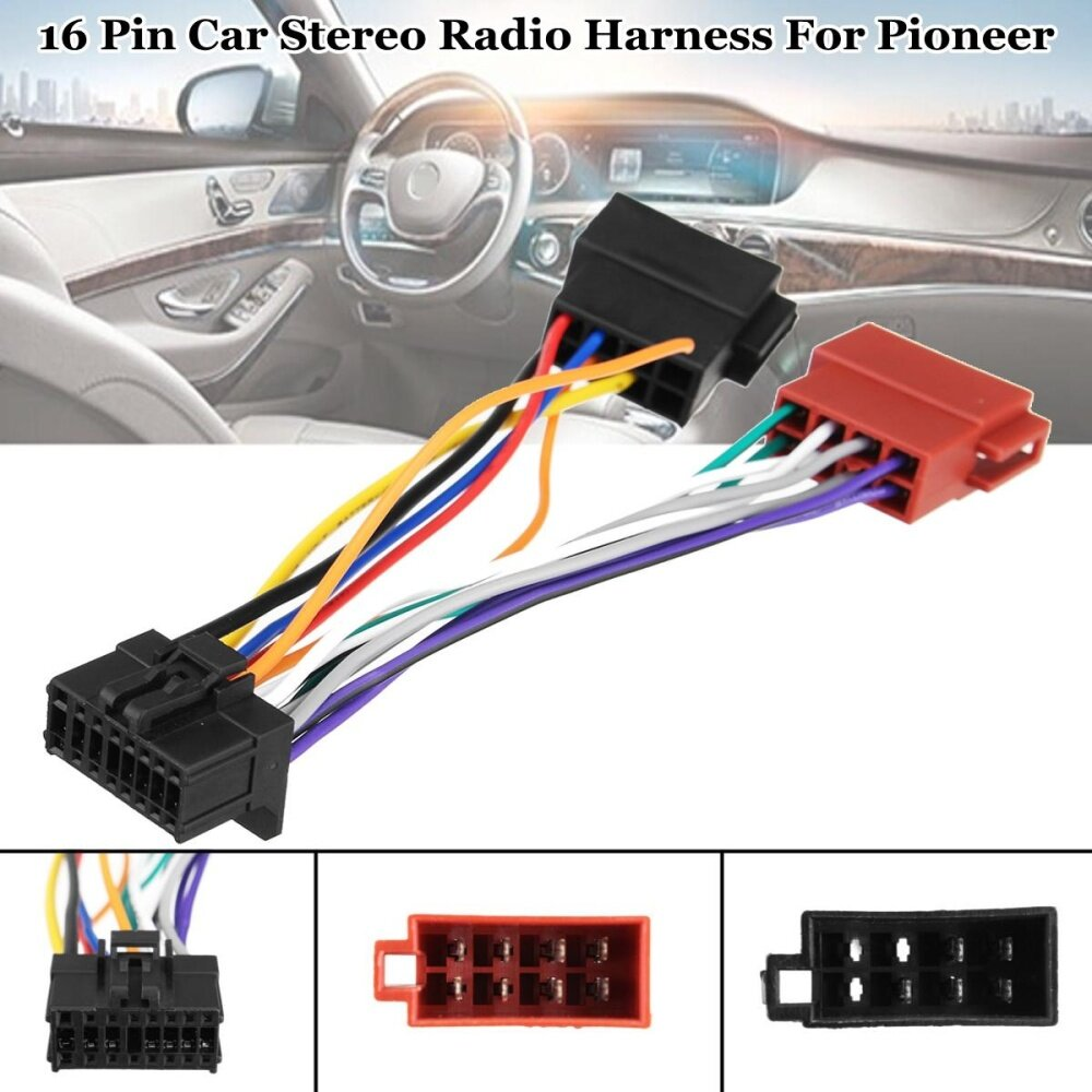 Automotive Wiring For Sale Harness Online Brands Stereo Connector Car Radio Iso 16 Pin Pi100 Pioneer 2003 On
