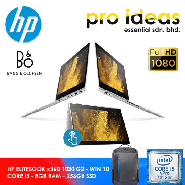 HP ELITEBOOK x360 1030 G2 / CORE i5-7TH GEN / 8GB RAM / 256GB SSD - WIN 10 / FREE BAG Malaysia
