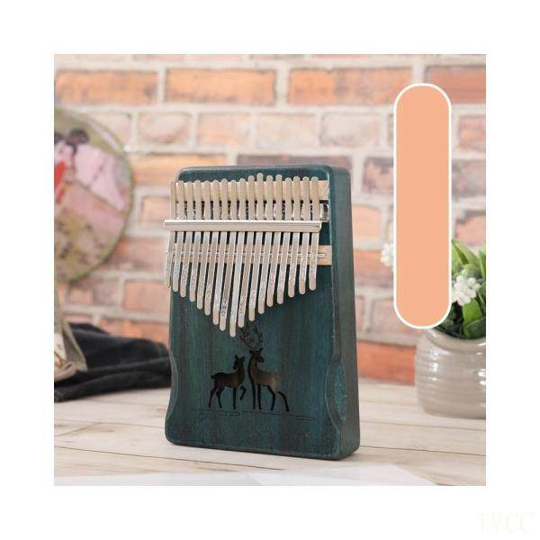 TVCC 17 Key Kalimba Deer Pattern Acacia Wood Piano Musical Instrument Thumb Piano Malaysia