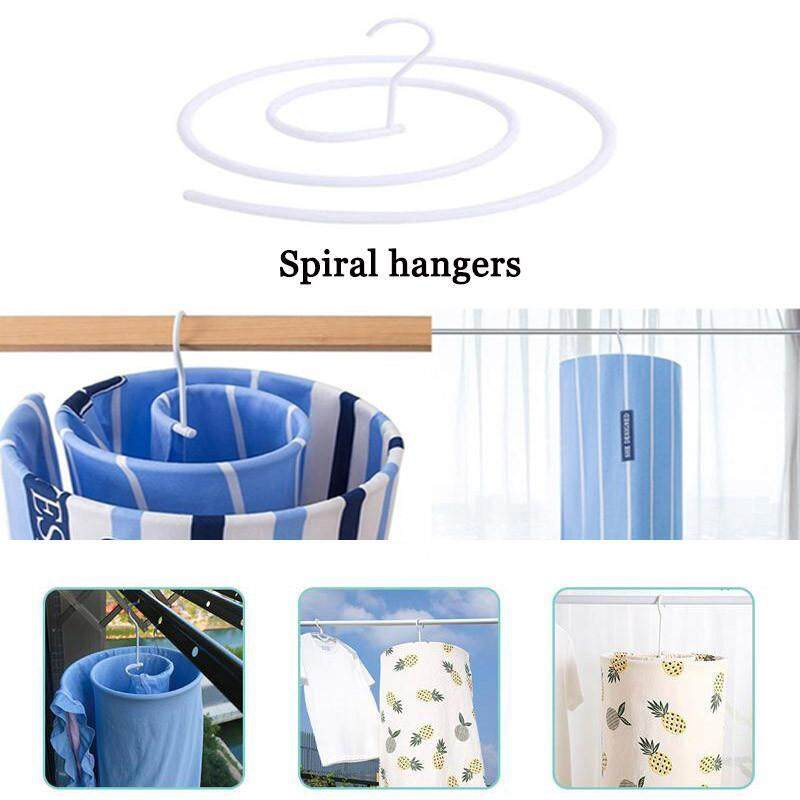 CZS Spiral Hanger Quilt can be Dried Quilt Artifact Round Metal Drying Rack Round Hanger