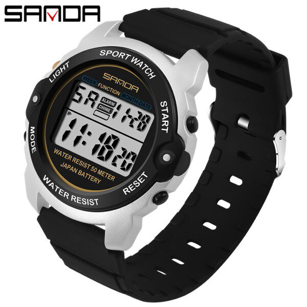 SANDA Brand Fashion Sports Watches Women LED Digital Swim Watch Women Multifunctional Wristwatches Alarm Stopwatch Ladies Clock Malaysia