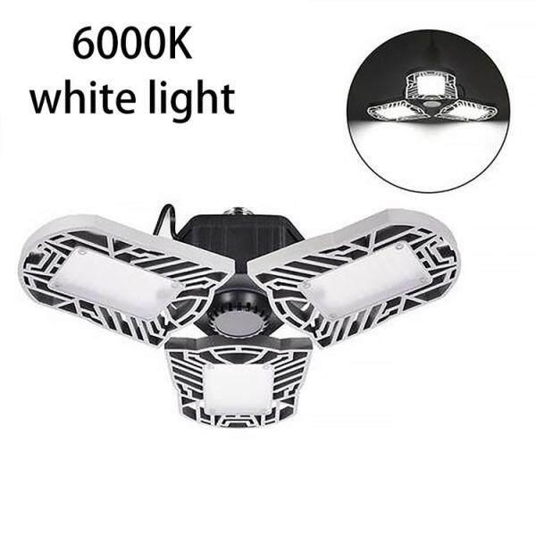 Đèn LED Kích Hoạt Chuyển Động 80W/8000LM, Đèn Để Xe Có Thể Điều Chỉnh Ba Đèn, Đèn Nhà Để Xe, Đèn Nhà Xưởng UFO, Đèn Đỗ Xe 85-265V E27/E26