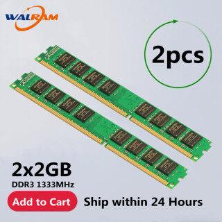 Walram 4GB 2PCS 2GB DDR3 1333MHz PC3 10600, Tương Thích Với NON-ECC DDR3 1066MHz PC3 8500 240pin RAM Bộ Nhớ Máy Tính Để Bàn DIMM thumbnail