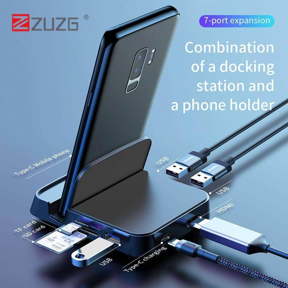 [ZUZG] USB Type C HUB Docking Station USB-C to HDMI Dock Power Adapter
