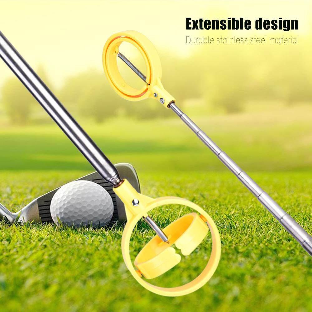 Mnyy Practical Golf Picker Telescopic Antenna Ball Pick-Up Tool Device Retriever Scoop (yellow) By Mnyyshop.