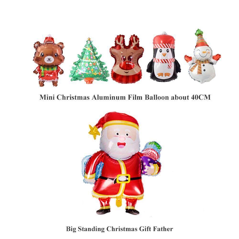 "LARGE SANTA SNOWMAN XMAS TREE FOIL BALOONS 16/"" MERRY CHRISTMAS FOIL BALLOONS"