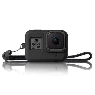 Ốp Silicon Mềm, Vỏ Bảo Vệ + Dây Buộc, Camera Hành Động Màu Đen Cho Gopro Hero 8 Phụ Kiện thumbnail