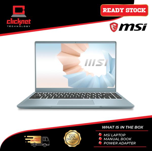 MSI Modern 14 B11SB-236 14 FHD Laptop Bluestone ( I7-1165G7, 16GB, 512GB SSD, MX450 2GB, W10 ) Malaysia