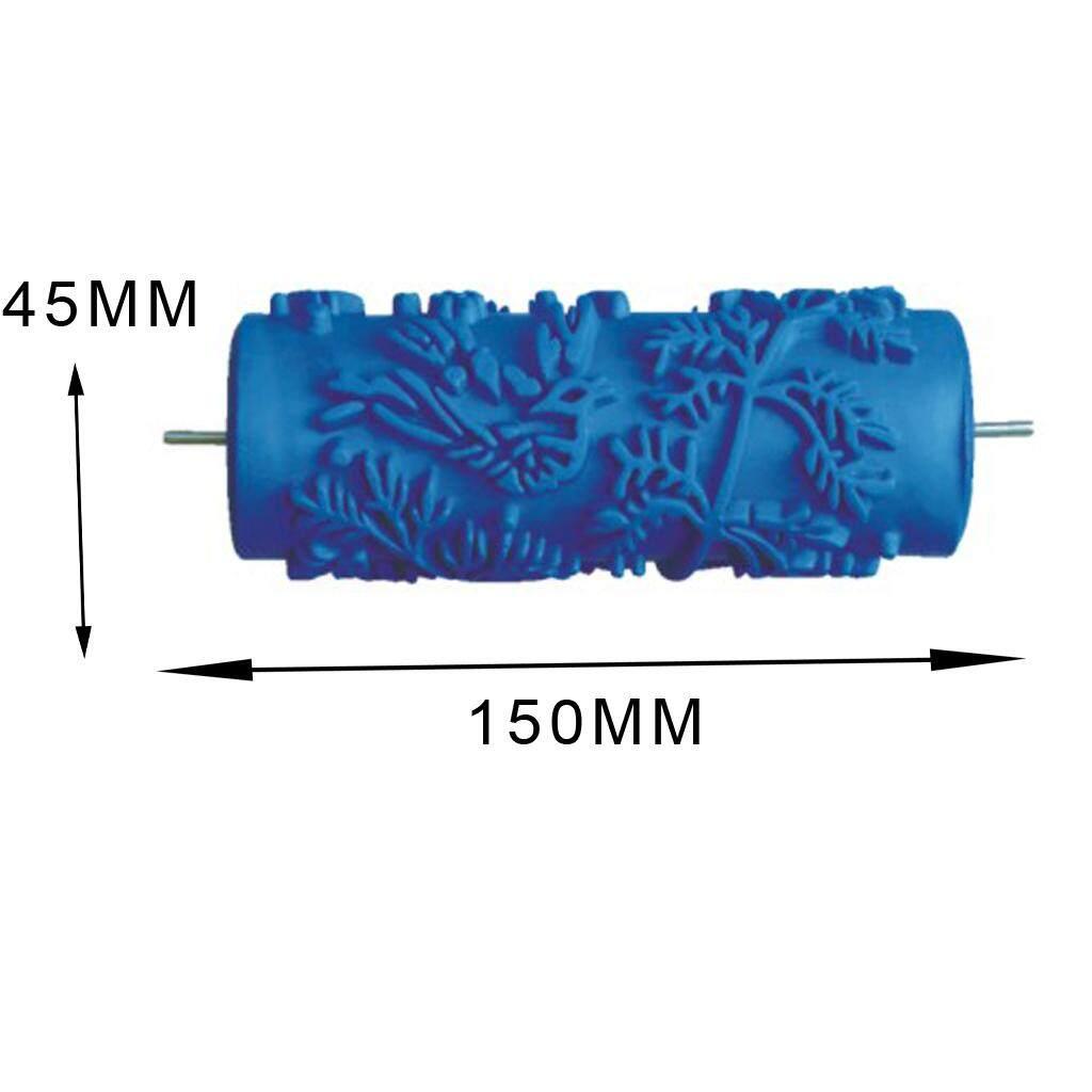 Blesiya 15 cm Nhiều Họa tiết hoa văn Lăn Tranh Cọ Tường DIY Trang Trí Công Cụ Xanh Dương 4 Loại