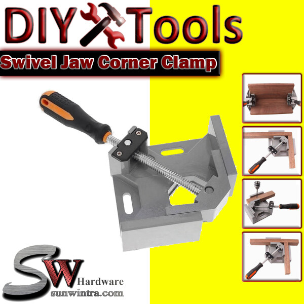 Professional 68MM 90° Swing Jaw Right Angle Corner Clamp Holder Woodworking Hand Kit
