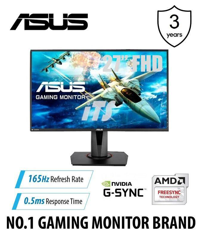 "ASUS VG278QR 27"" FHD 165Hz 0.5ms Eye Care Gaming Monitor - DP/HDMI/DVI (G-Sync/Free-Sync) Malaysia"