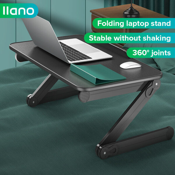 llano Foldable Multifunctional Cpmputer Stand,Bed Lazy Study Desk