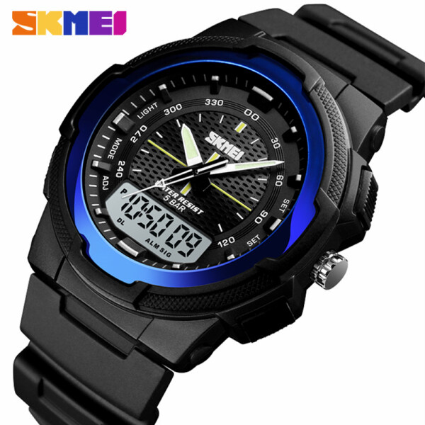 SKMEI Top Brand Military Men Watch Outdoor Sport 50M Waterproof Date Dispaly Chrono Clock  Wrist Watch Quartz Clock Mens Watches Malaysia